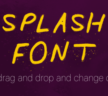 kidpixel – Splash Font funky water animation for AE